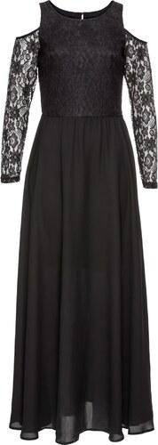 BODYFLIRT boutique Bonprix - robe d été Robe de soirée à dentelle noir  manches longues pour femme 1e3d01097200