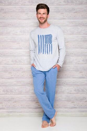 Taro Szürke-kék férfi pizsama Karol - Glami.hu 040ac1f6f9