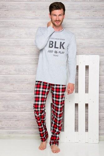 Taro Szürke-piros férfi pizsama Leon - Glami.hu d61ddc14f5