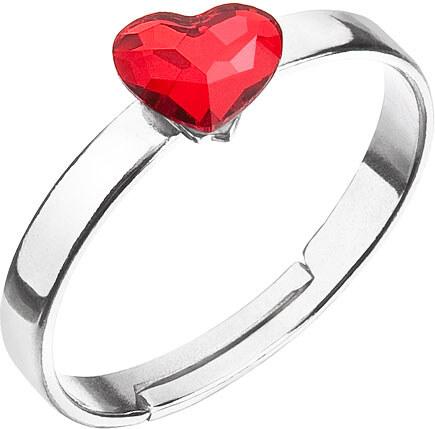 EVOLUTION GROUP Strieborný prsteň s krištáľmi Swarovski červené srdce  35056.3 siam f4f70a83067