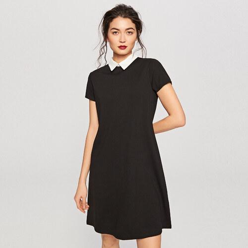 f60ea1f54c Reserved - Fehér galléros ruha - Fekete - Glami.hu