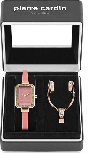 Pierre Cardin Női rózsaszín-arany szett óra + nyaklánc + fülbevaló  PCX6330L275 b701dd58cd