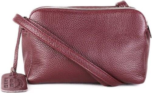 25f931d87b Talianske Kožené kabelky dámske listové crossbody malé burgundské Rosana