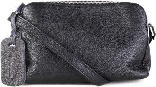 Talianske Kožené kabelky dámske listové crossbody malé čierne Rosana ... f120d40d052