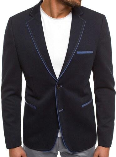 Skvelé čierne sako s modrým lemovaním BLACK ROCK 20297 - Glami.sk 7ab51a01556