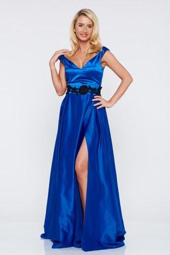 388da771f1 StarShinerS Kék alkalmi Artista ruha szatén anyagból szivacsos mellrésszel