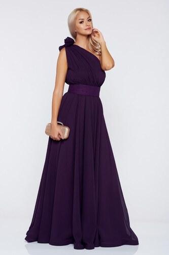 Lila StarShinerS egy vállas alkalmi ruha fátyol anyag - Glami.hu fc7a191c2b