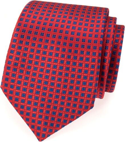avantgard rote krawatte mit blauem muster. Black Bedroom Furniture Sets. Home Design Ideas