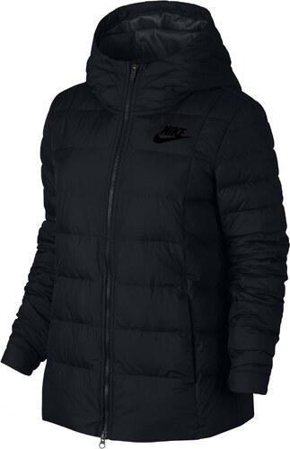 Dámská bunda Nike W NSW DWN FILL JKT HD BLACK BLACK WHITE - Glami.cz 13c7dd3be4