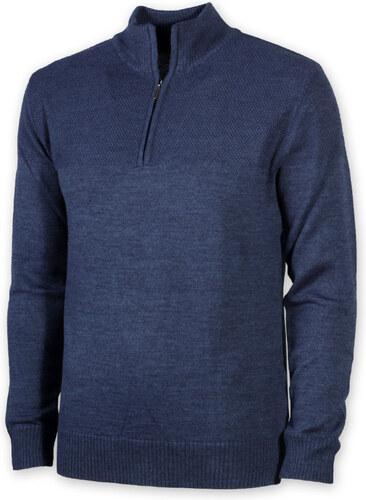58d19b63748 Pánský teplý svetr Willsoor 8722 v modré barvě - Glami.cz