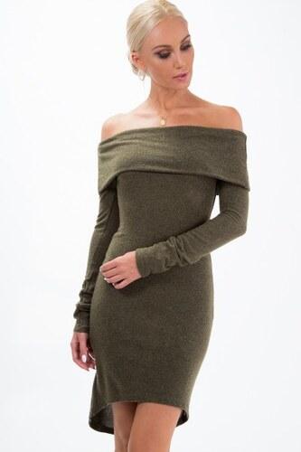 637e4c83677d Fasardi Pletené šaty s odhalenými ramenami a asymetrickým strihom ...