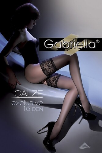 Gabriella Samodržící punčochy Exclusive 15 DEN bianco - Glami.cz f466d3807b