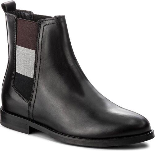 67cd02e373 Kotníková obuv s elastickým prvkom TOMMY HILFIGER - DENIM Genny 16A2  FW0FW01695 Black 990