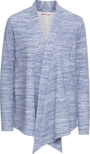 0149553e1fff0 John Baner JEANSWEAR Bonprix - Gilet sweat-shirt, manches longues bleu pour  femme
