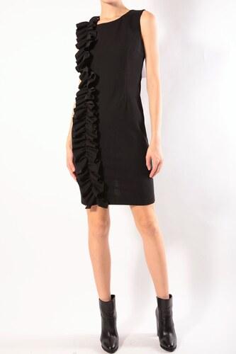 Rinascimento čierne elegantné šaty s volánikmi - Glami.sk 0053e6f2ec1