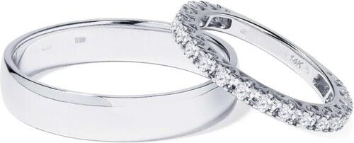 Zlate Snubni Prsteny S Diamantem Klenota Wk00988 Glami Cz