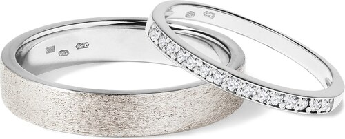 Snubni Prsteny Z Bileho Zlata S Diamanty Klenota Wk01522 Glami Cz