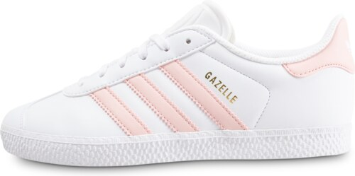 adidas Baskets/Streetwear/Tennis Gazelle Junior Blanche Et Rose Enfant