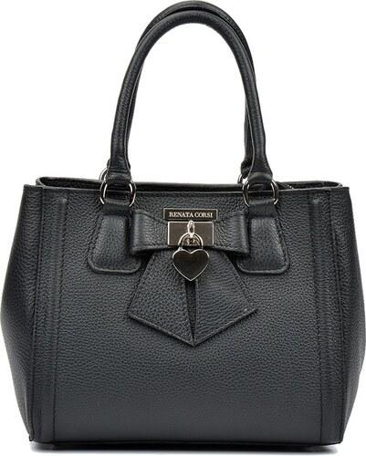 Čierna kožená kabelka Renata Corsi Serena - Glami.sk dcac91286fc