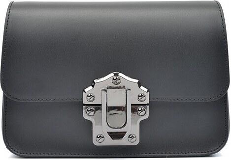 Čierna kožená kabelka Roberta M Estelle - Glami.sk 2e41af4c0a0