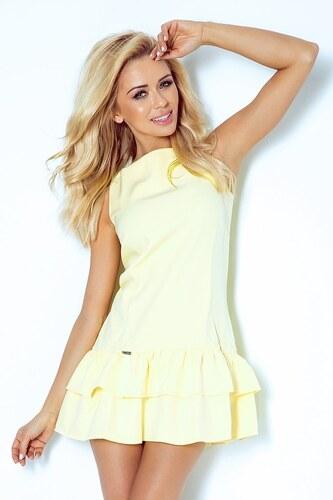 Numoco Šaty s volánky světle žluté - Glami.cz afb63b7493