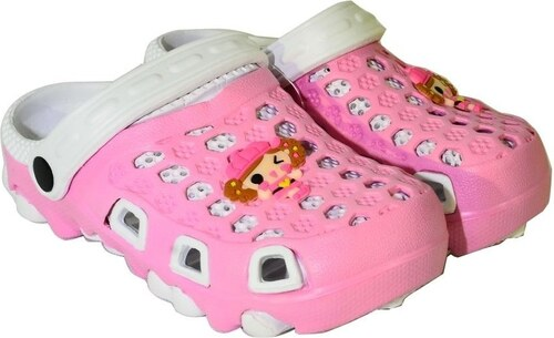 8eeeb96c06c6 John-C Šľapky Detské bielo-ružové gumené papuče DANICA John-C - Glami.sk