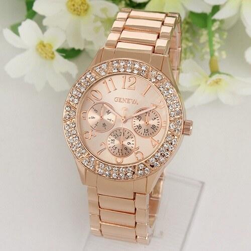 340a59329e9 Dámské hodinky Geneva luxury model 11 - bronzové - Glami.cz