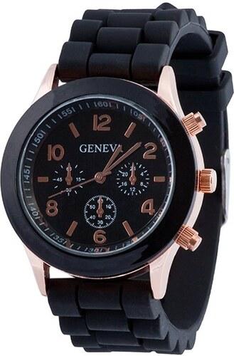 Silikonové hodinky Geneva model 5 small - černé - Glami.cz 8068fae7a3