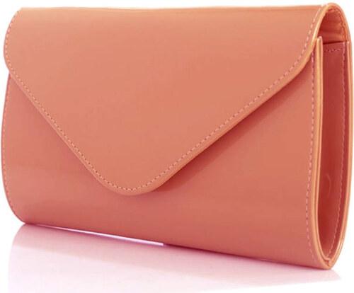 női borítéktáska lakkozott pasztell színű rózsaszínű BRIDGET - Glami.hu 89e7fa53d3