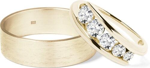 Zlate Snubni Prsteny S Diamanty Klenota Wk02733 Glami Cz