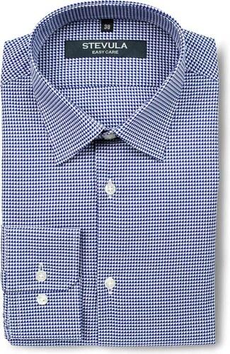 d1195a2f11e8 STEVULA Modro-biela pánska košeľa s dlhým rukávom Body fit - Glami.sk