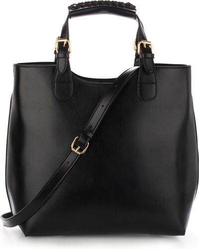 cd37c01195 Anna Grace London Anna Grace Velká kabelka shopperbag AG00267 černá ...