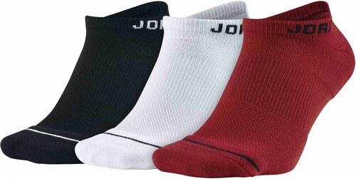 24318fdbf Jordan Ponožky JUMPMAN NO-SHOW 3PPK BLACK/WHITE/GYM RED - Glami.sk