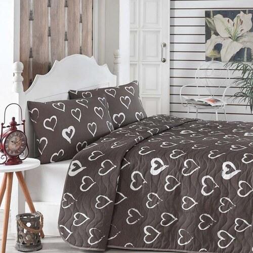 Bonami Prešívaný pléd cez posteľ s 2 obliečkami na vankúše Amor 4da56c1654