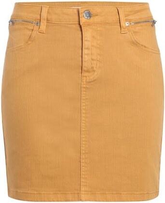 Jupe droite zip ceinture Jaune Coton - Femme Taille 44 - Cache Cache ... 6a8ca2d4e0c