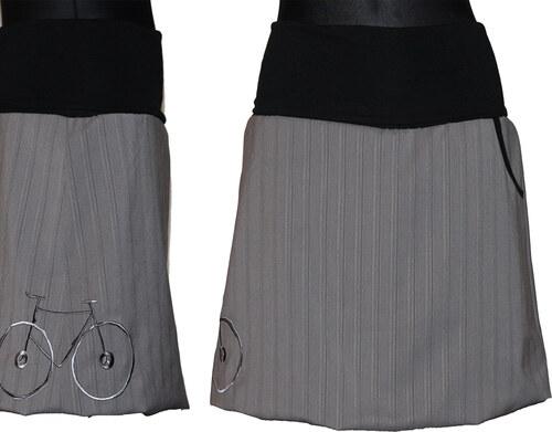 d311d440640b Radka Kudrnová Těhotenská balonová šedá sukně