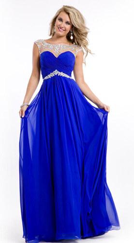 Krásné šifonové společenské šaty v královské modré barvě - Glami.cz d496f5c076
