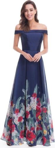 Ever-Pretty Námořnicky modré šaty s květinovým vzorem - Glami.cz bb2ec8bade