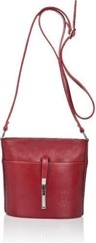 Markese Červená kožená kabelka Markes Calf Mini - Glami.sk 130b8abb283