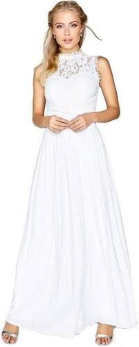 49aa8ee5ffad LITTLE MISTRESS Biele svadobné šaty s čipkou - Glami.sk