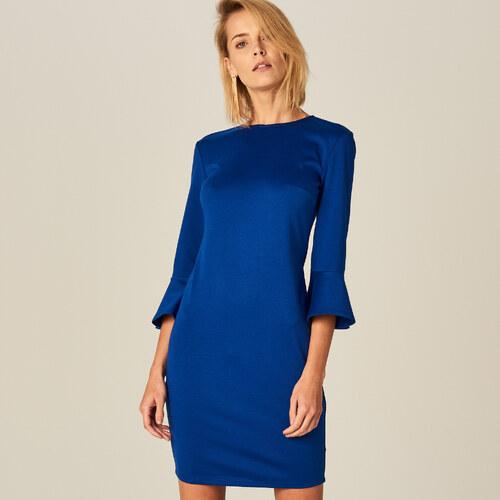 f53ba9d51bc0 Mohito - Puzdrové šaty so zvonovými rukávmi - Modrá - Glami.sk