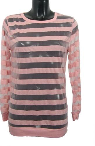 ATMOSPHERE dámské růžové průsvitné triko s dlouhým rukávem - Glami.cz f25c0cf6b7