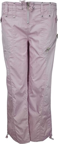 9ecea6ee473 XE EX dámské fialové plátěné kalhoty - Glami.sk