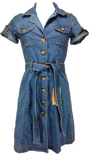 358a36084468 DENIM dámské modré riflové šaty - Glami.sk