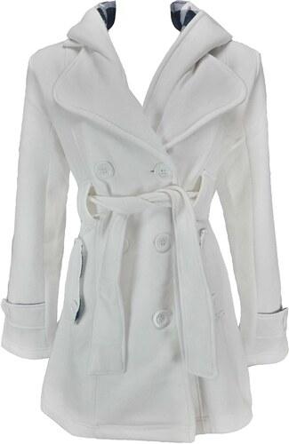 URBAN DIVA dámský bílý kabát - Glami.cz f4b5c8d508
