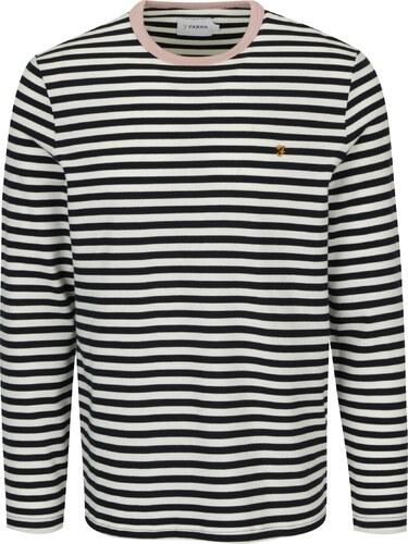 Bílo-modré pruhované tričko s dlouhým rukávem Farah Trafford - Glami.cz cfad321720