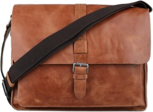 Strellson Pánska kožená taška cez rameno Blake 4010001692 - Glami.sk eaea80d523a