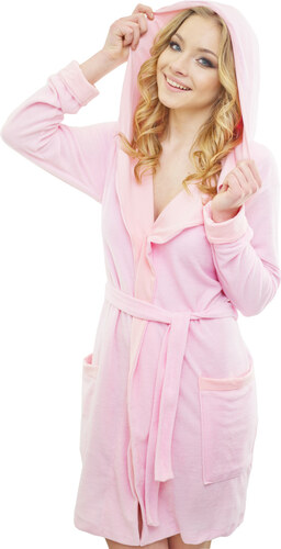 Madlen style Vékony női fürdőköpeny Dalia rózsaszín - Glami.hu 977050014c