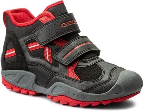 Geox Chlapecké kotníkové boty New Savage - černo-červené - Glami.cz ca8eb75e7f