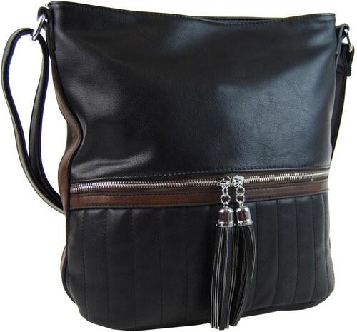 NEW BERRY Elegantní dámská crossbody kabelka NH6047 černá - Glami.cz 6d429e661e1
